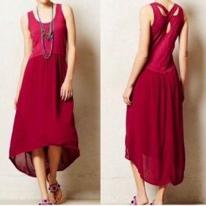 Left of Center raspberry hi-lo dress. Sz XS.
